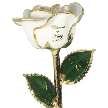 Personalized 5th Anniversary Gold Rose Gift
