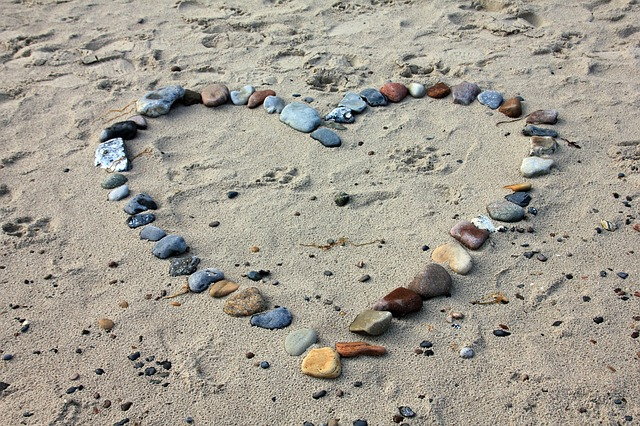 Stones in the shape of a heart