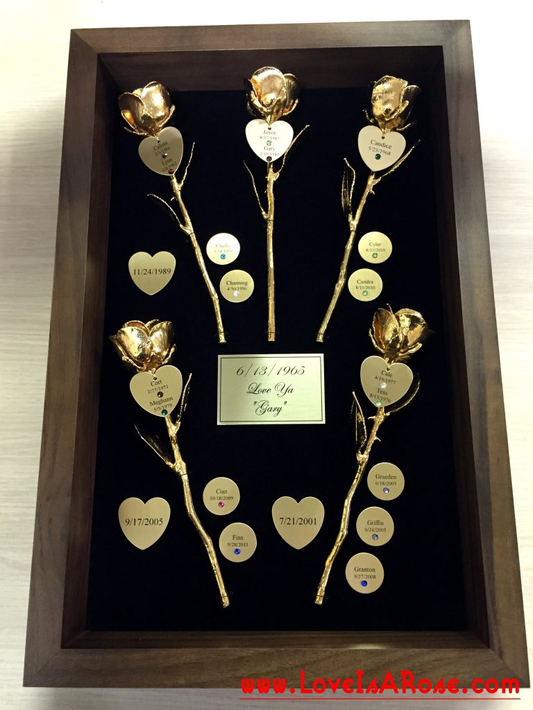 Gold Roses 50th Anniversary Gift