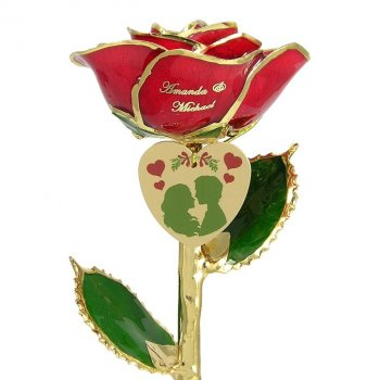 Personalized Christmas Gift: Under The Mistletoe Rose