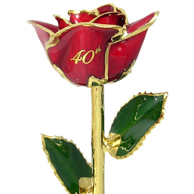 Personalized Rose 40th Anniversary Gift: 11in.