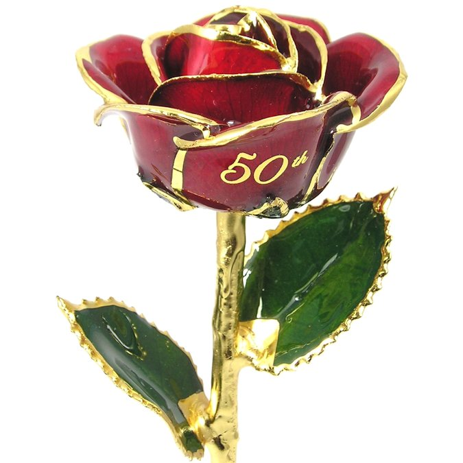 Personalized Rose 50th Anniversary Gift: 11in.
