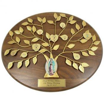 Catholic Personalized Family Tree Plaque