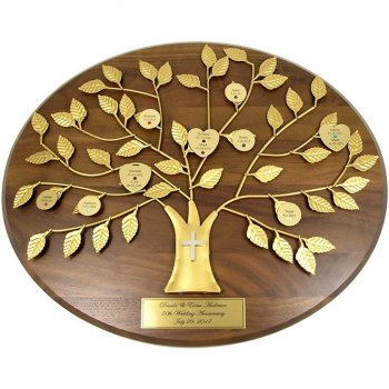 Christian Gift: Personalized Family Tree Plaque