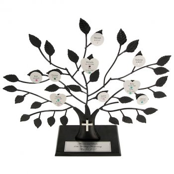 Christian Engraved Family Tree Stand