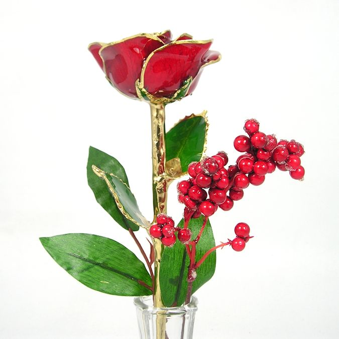 Preserved Christmas Rose In Eiffel Tower Vase Love Is A Rose