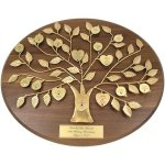 Engraved 50th Anniversary Gift Gold Family Tree Plaque