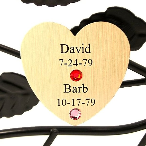 Personalized Family Tree Gift: Couples Gold Heart