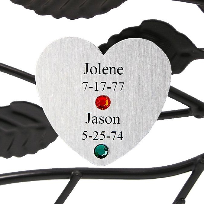 Personalized Family Tree Gift: Couples Silver Heart