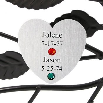 Couples Personalized Silver Heart
