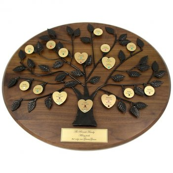 Personalized Family Tree Plaque with Gold Plate