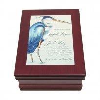 Engraved Wedding Invitation Keepsake Gift Box