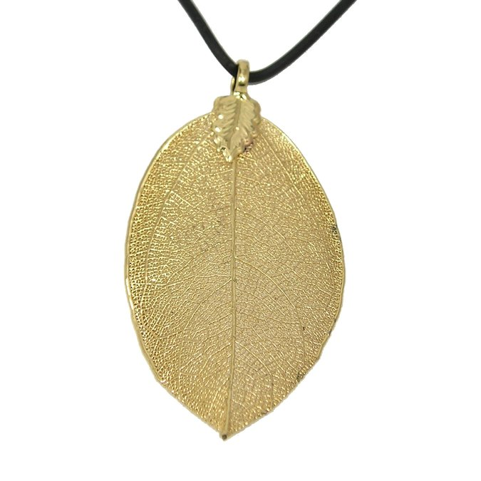 24k gold dipped rose leaf pendant love is a rose 24k gold dipped rose leaf pendant aloadofball Image collections