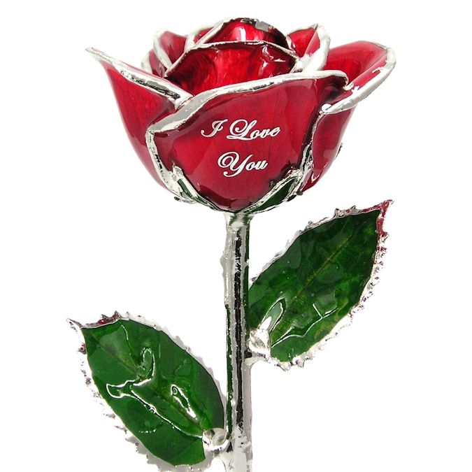 Personalized I Love You Rose: 11in.