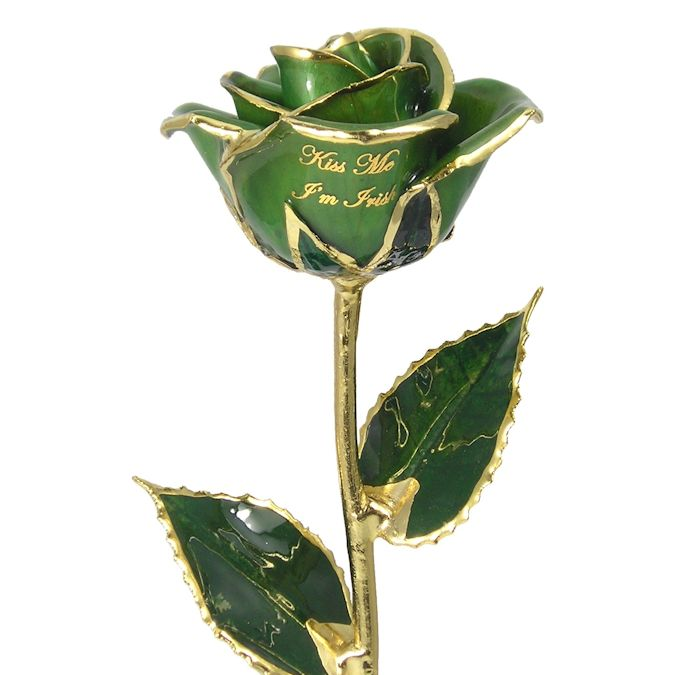 Personalized Irish Preserved Rose Gift: 11in.