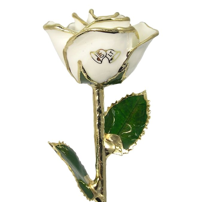 Gold Wedding Bells: Wedding Bells Rose Personalized Anniversary Gift: 11in