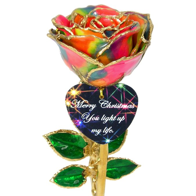 8 Personalized Christmas Lights 24k Gold Rose Gift Love Is A Rose