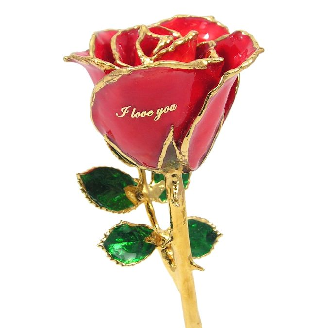 8'' Personalized I Love You Rose