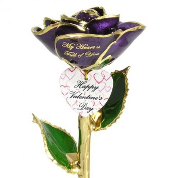 Unique Personalized Gold Roses Anniversary Gifts