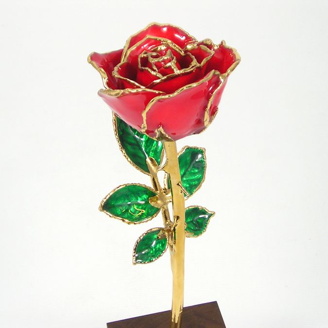 Mothers day rose gift and personalized walnut stand 8in love hover to zoom negle Choice Image
