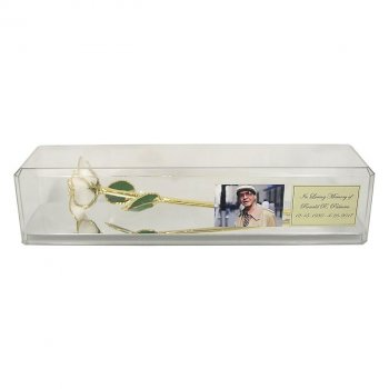 Preserved Memorial Rose in Personalized Case with Photo